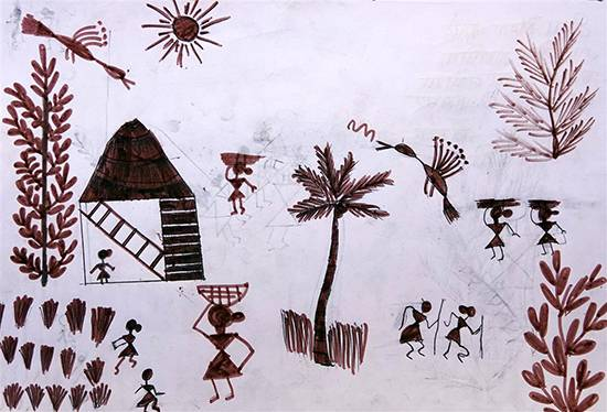 Painting  by Diksha Khutade - Warli Art