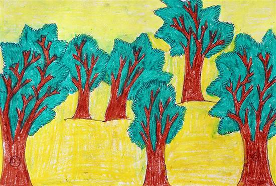 Painting  by Diksha Khutade - Trees