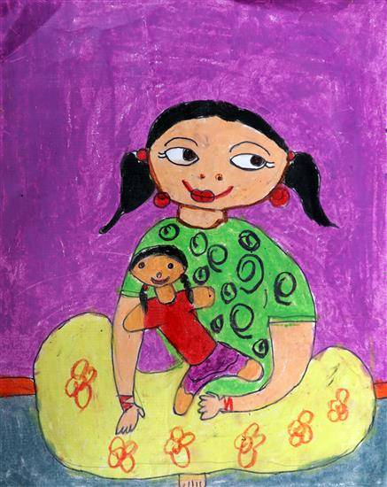 Painting  by Liyana Sarkar - Mom and Me