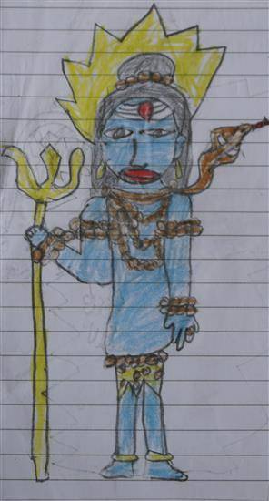 Painting  by Nithvin Vinu - Lord Shiva