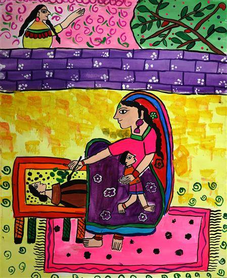 Painting  by Bhayani Rutva - My Mother