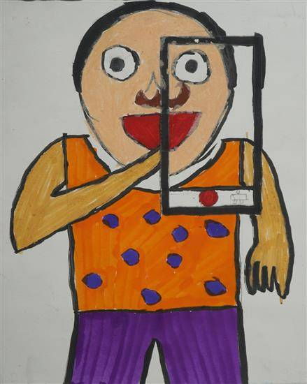 Painting  by Swastik  - Me and my Selfie