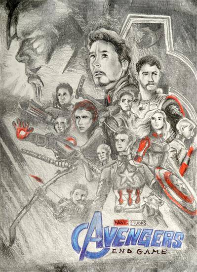 Painting  by Adreeja Gupta - Avengers : Endgame