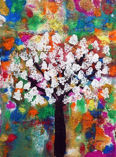 Painting  by Krishna Balaji - Wishful Tree
