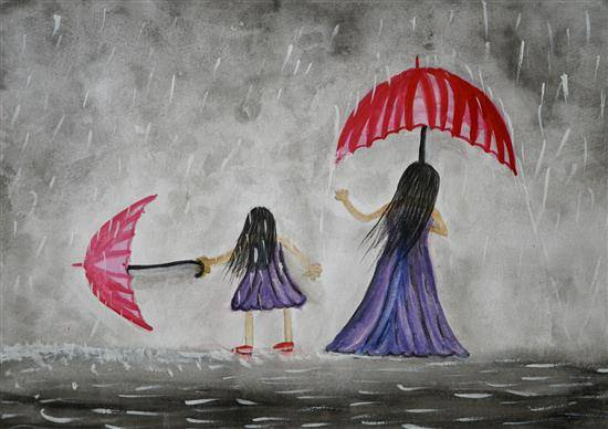 Painting  by Sarayu Vollala - Happy Mother Day