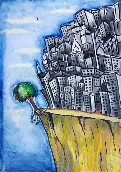 Painting  by Sudiksha Singh Rathore - Save trees...Trees save!