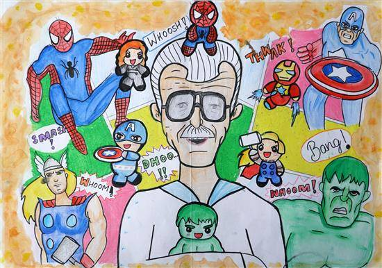 Painting  by Surbhi Nagar - Mr. Stan Lee