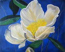 A bloom, painting by Swati Gogate
