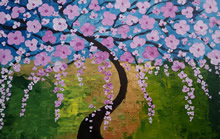 Cherry Blossom, painting by Aparna Dharma