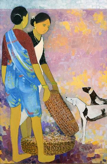 Untitled - 18, painting by Shashikant Bane