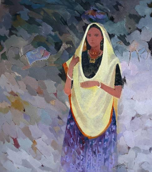 Untitled - 13, painting by Shashikant Bane