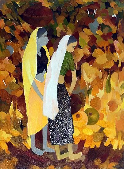 Untitled - 9 , painting by Shashikant Bane