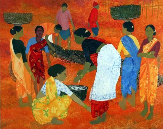 Early Bright, painting by Shashikant Bane