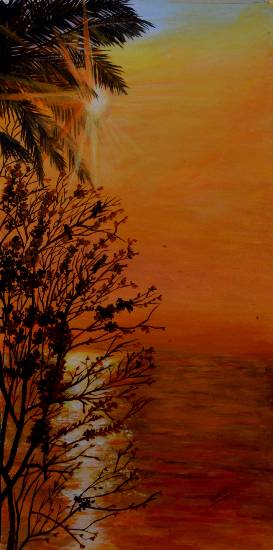 Break of dawn 2, Painting by Emerging Artist Sudha Srivastava