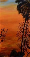 Break of dawn - 1, Painting by Sudha Srivastava