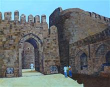 Daulatabad or Devgiri fort, painting by Sandhya Ketkar, Ink & Acrylic on Canvas, 24 x 30 inches
