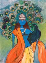 Painting  by Aarna Kakkar - Lord Krishna