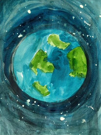 Painting  by Ameya Sunand - The Earth