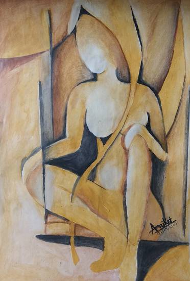 painting by Aniket Vibhute - Figurative Abstract painting