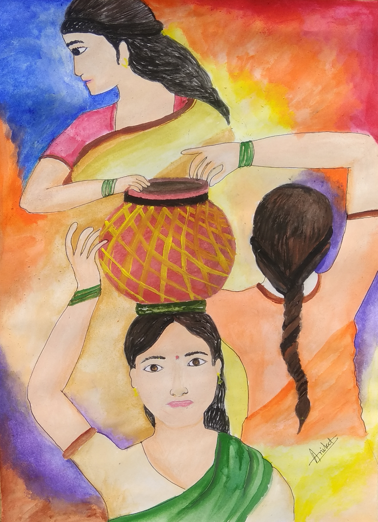 Painting  by Aniket Vibhute - A Woman