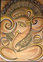 Painting  by Shefali Gopinath Madkar - Ancient Lord Ganesha