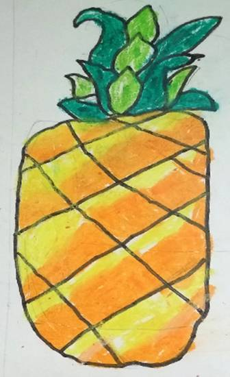 Pineapple, painting by Neel Kirtane
