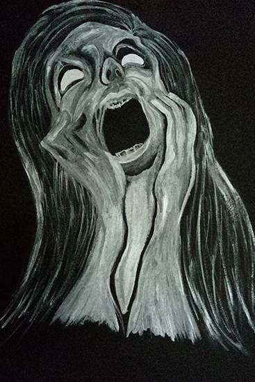 painting by Sonali Pawar - I am scared of everything
