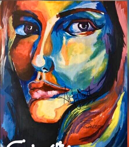 Painting  by Simran Dhawan - Different colors of an actor's life