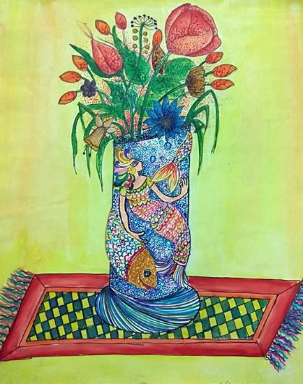 painting by Shreya Priyadarshi - Flower Pot