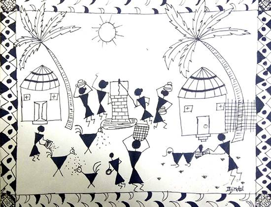 Painting  by Divyansh Jindal - Warli Art