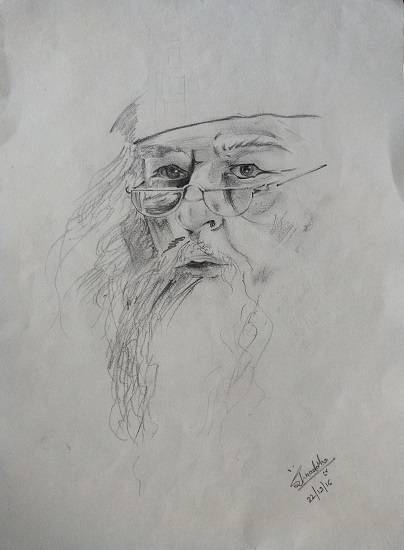 painting by Shraddha Virkar - Dumbledore