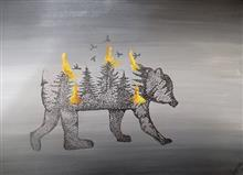 Painting  by Apoorva Dwivedi - Today they are burning tomorrow we will -THE AMAZON