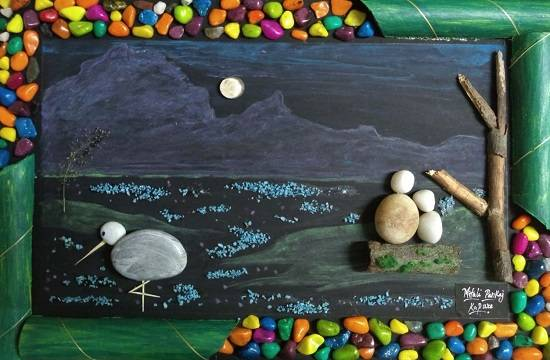 painting by Mitali Pankaj Kapure - Pebble art