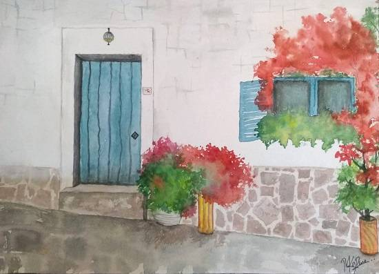 painting by Mitali Pankaj Kapure - Way down to Italy