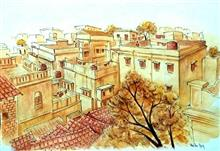 Painting  by Aritra Dey - Settlements