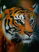 Painting  by Aritra Dey - Royal Bengal Tiger