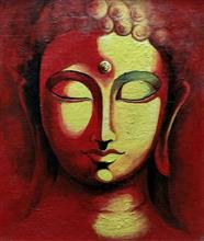 Painting  by Aritra Dey - The buddha