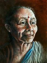 Painting  by Aritra Dey - Grandma