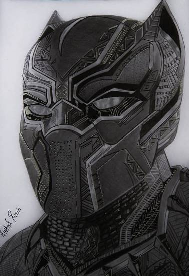 Painting  by Vishal Kumar Punia - The Black Panther