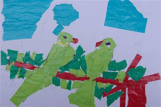 Couple of Parrots, painting by Akhil Ashok Parhad