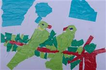 Painting  by Akhil Ashok Parhad - Couple of Parrots