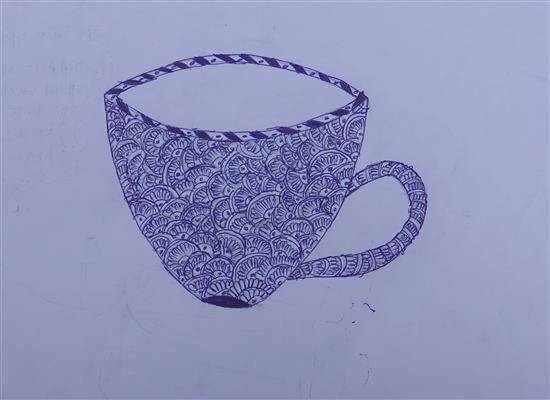 Painting  by Neha Sudhir Khutade - Cup - Doodle art