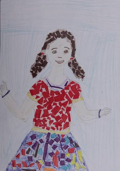 Painting  by Priti Sunil Dadoda - Smiling girl