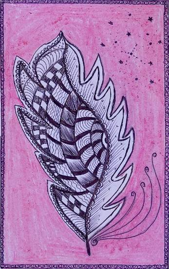 Painting  by Priyanka Prabhakar Mhasare - Peacock Feather
