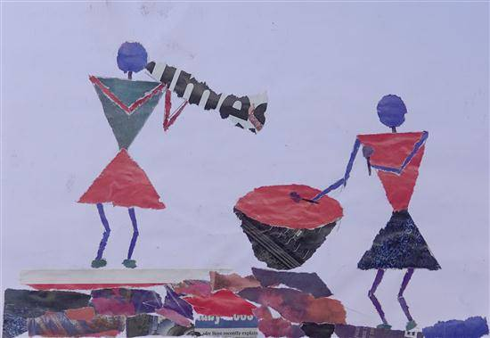 Warli art - Music, painting by Vijay Gangadhar Salkar