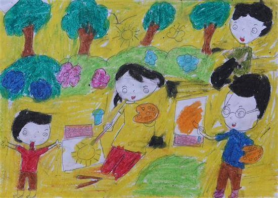 Painting  by Sanika Shantaram Padavi - Drawing activity by Children
