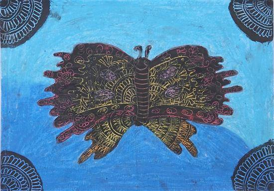 Painting  by Supriya Jaywant Vangad - Butterfly