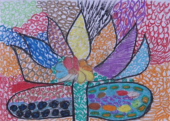 Painting  by Harshada Pramod Zhade - Colorful lotus