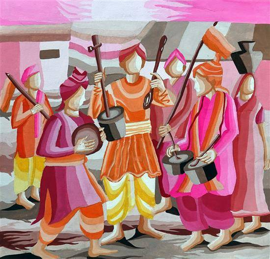 Painting  by Akash Waghmare - Indian Festival