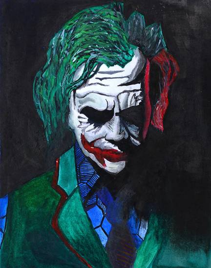 Painting  by Rithesh Shet - Joker - Why so serious?